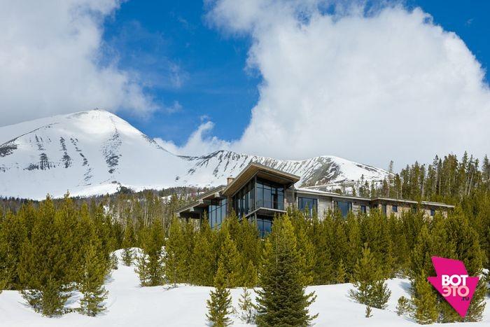Красивый дом в горах 1