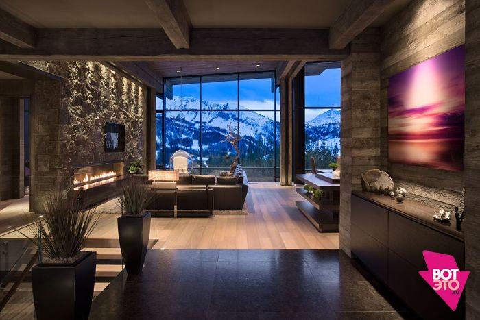 Красивый дом в горах 10