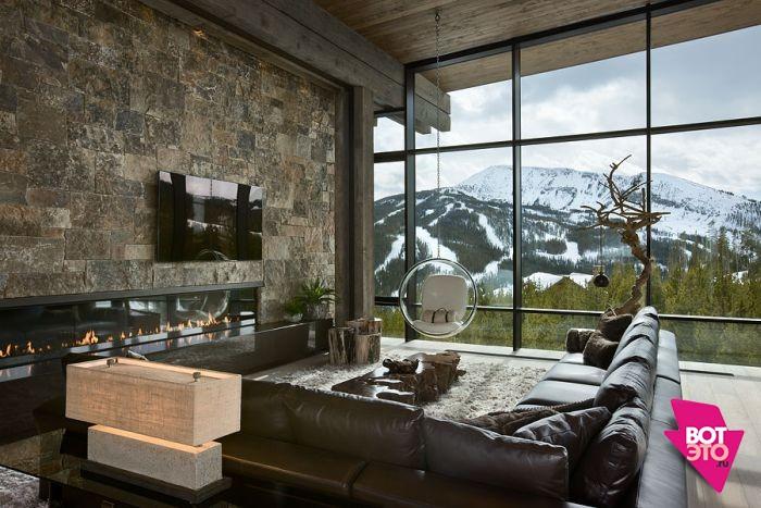Красивый дом в горах 2