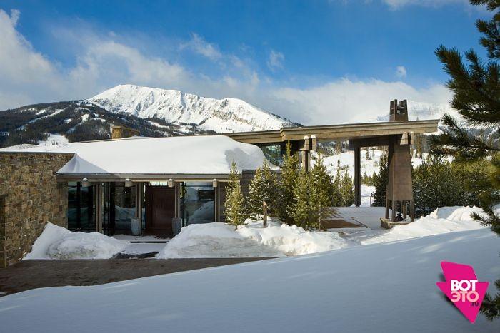 Красивый дом в горах 20