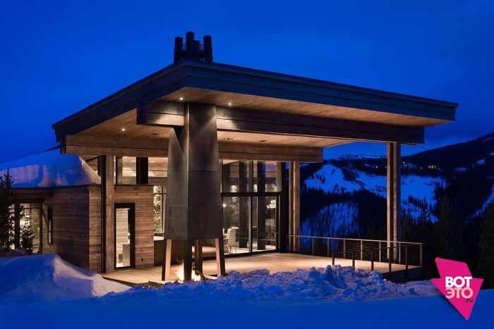 Красивый дом в горах 21