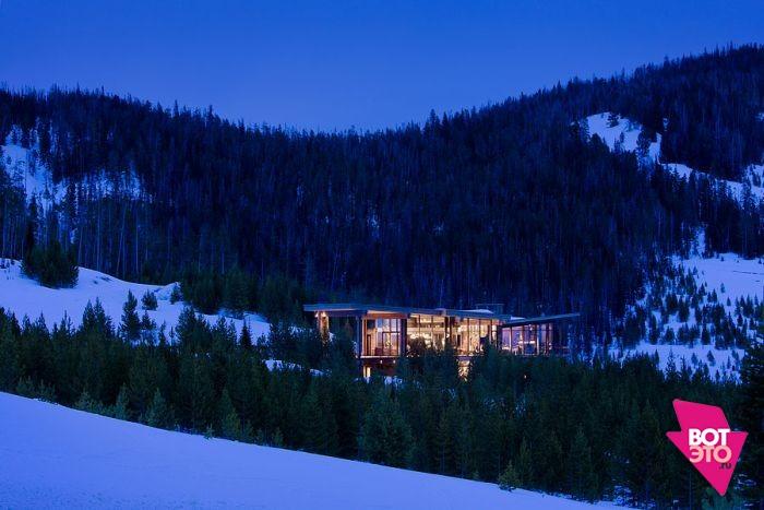 Красивый дом в горах 22