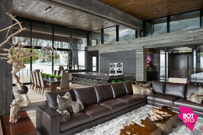 Красивый дом в горах 3