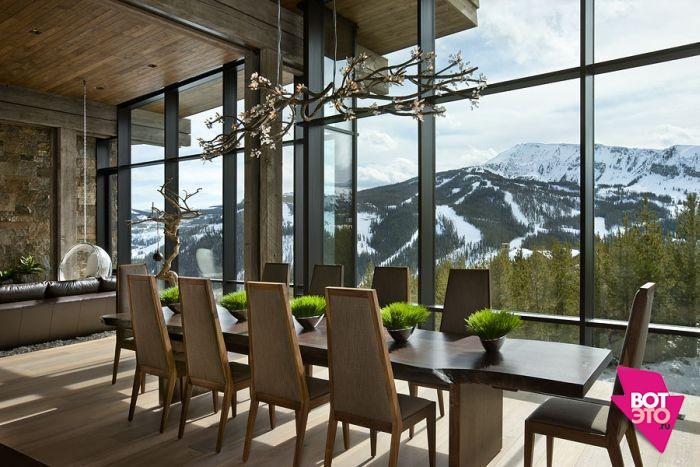 Красивый дом в горах 5