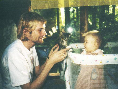 Курт Кобейн с дочерью