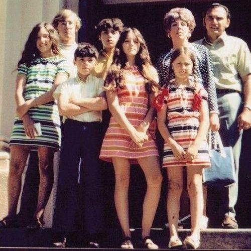 Мадонна и ее семья 1970
