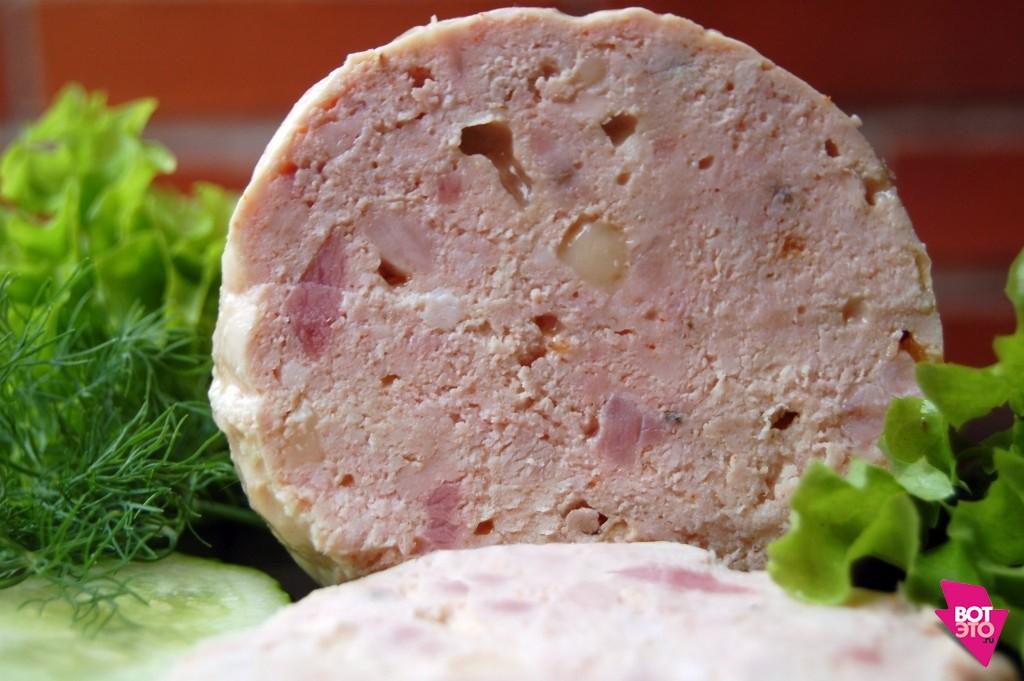 Куриная вареная колбаса в домашних условиях рецепт с желатином 102