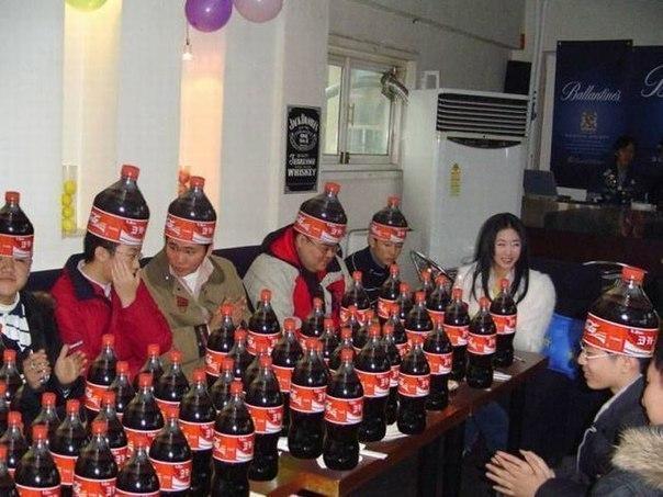 Китайцы фанаты кока-колы