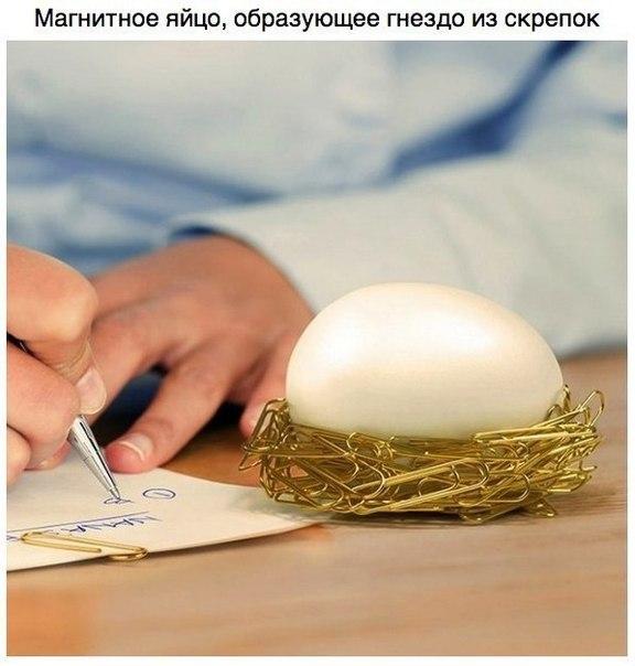 магнитное яйцо для скрепок