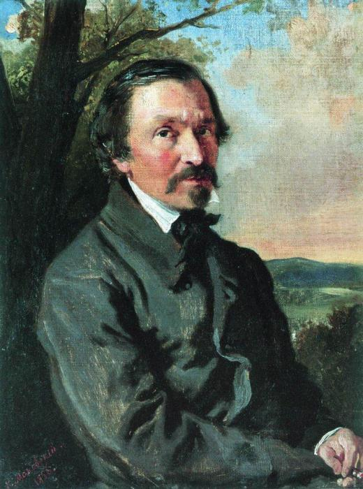 Портрет Н.А.Некрасова. 1856 - Маковский Константин Егорович