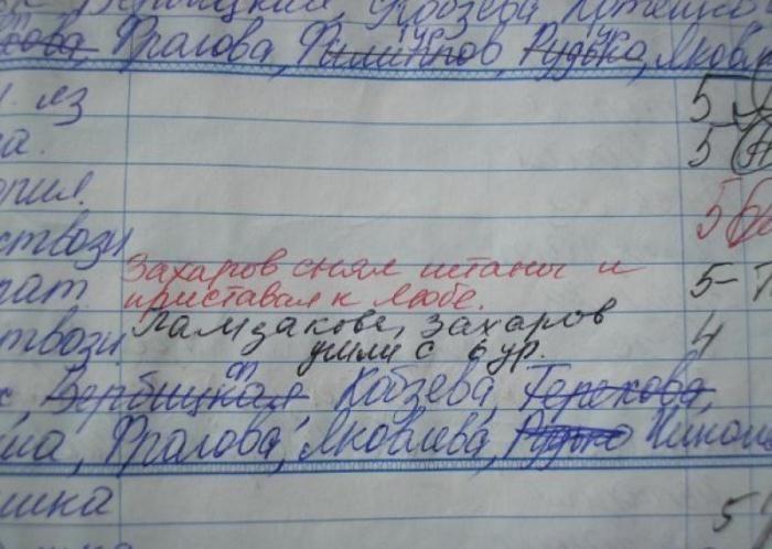 приколы в школьных дневниках 12