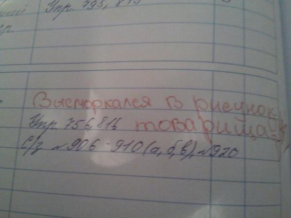 приколы в школьных дневниках 13