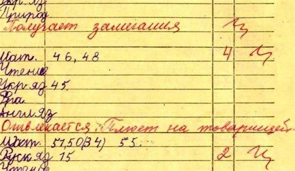 приколы в школьных дневниках 2