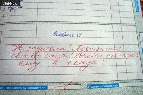 приколы в школьных дневниках 8