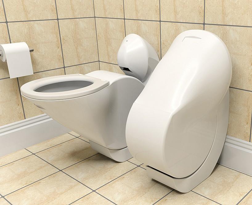 Технологии в быту: складной унитаз Iota для маленьких ванных комнат