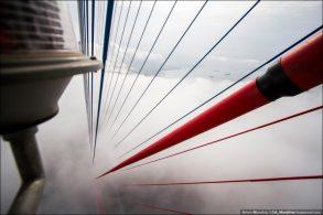Восхождение на вантовый мост Русский (30 фото)