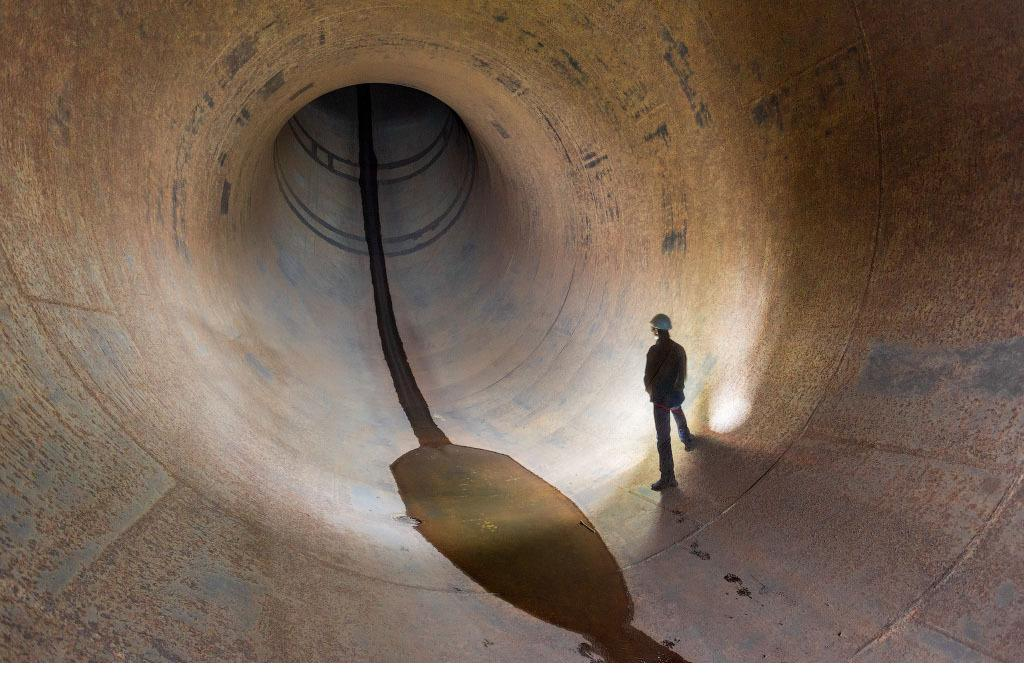 Турбинный водовод, диаметр 7,5 м