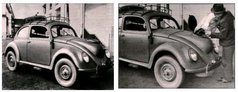 Газогенераторный Volkswagen Beetle, выпускаемый на заводе