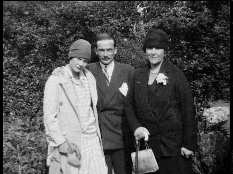 С первым мужем и матерью