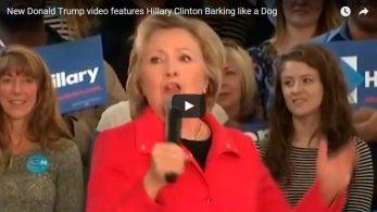 Предвыборный ролик Дональда Трампа, в котором Хиллари Клинтон лает