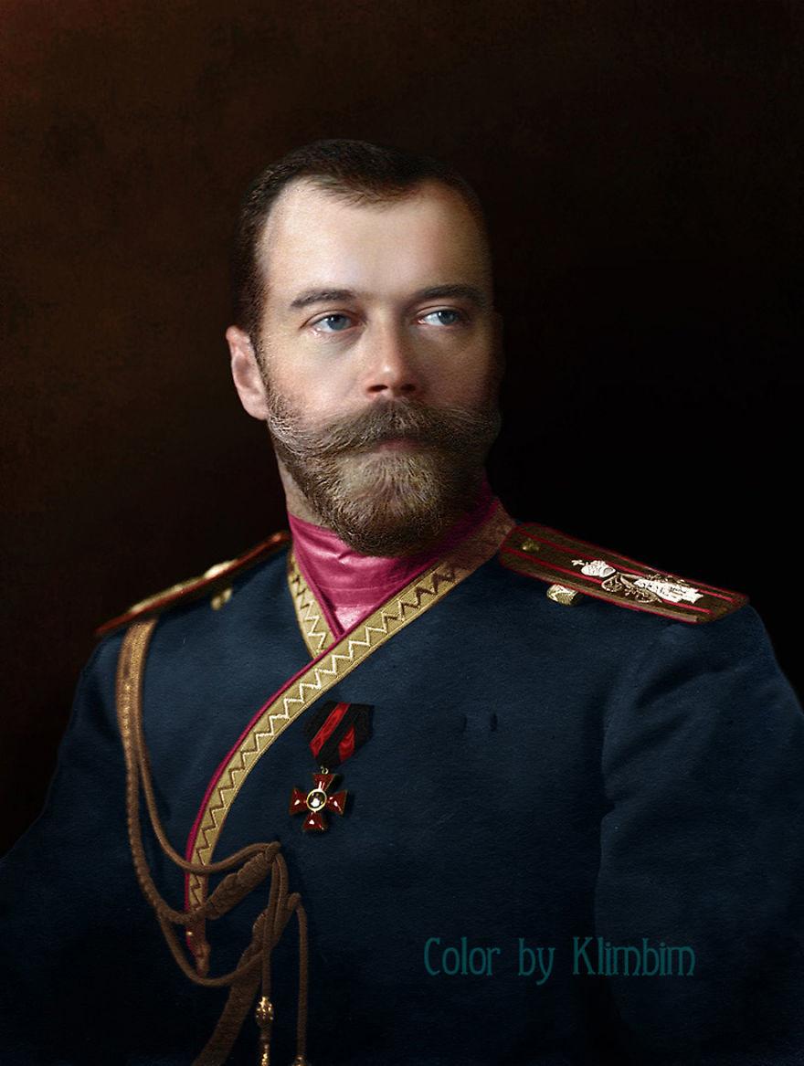 Николай II в униформе 4-го стрелкового Императорской фамилии лейб-гвардии полка, 1912 год время, россия, фотография, цвет