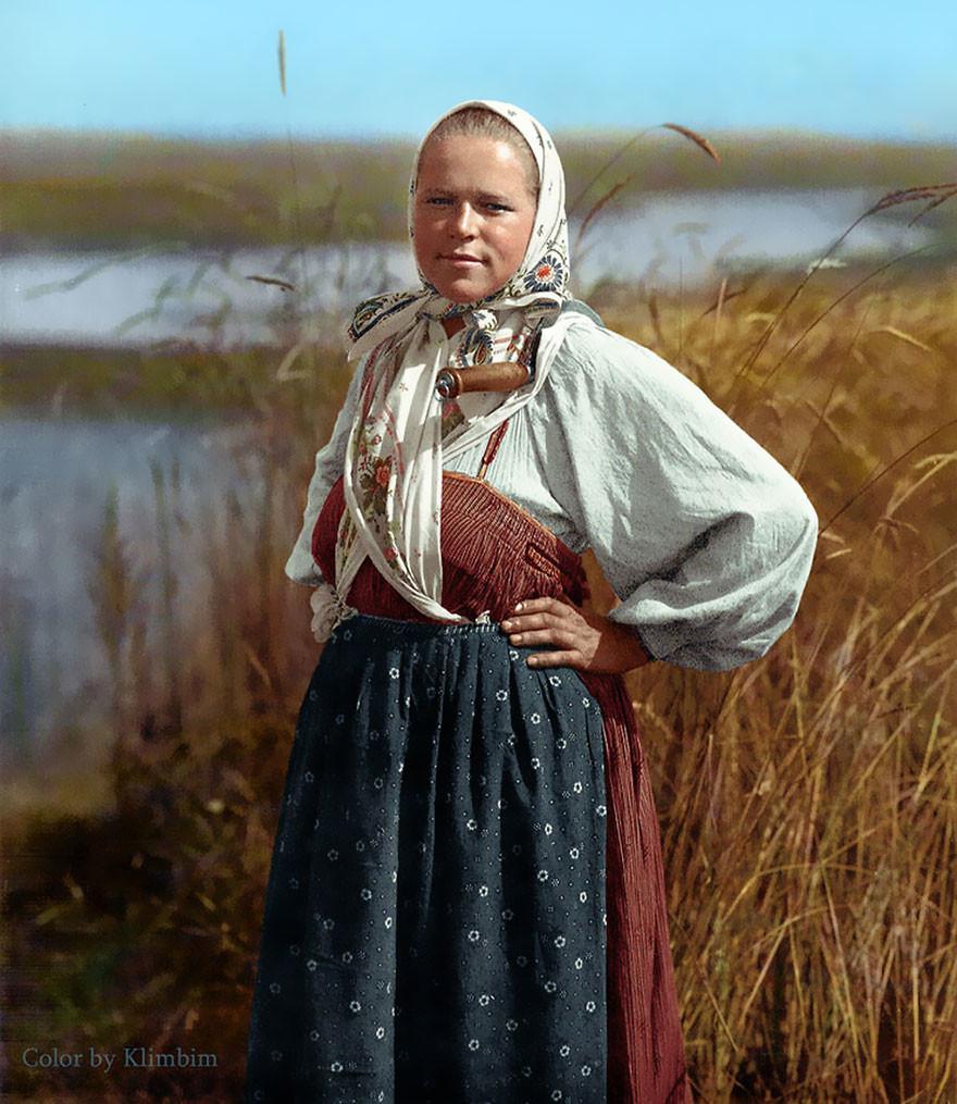 Жнец, 1914 год время, россия, фотография, цвет