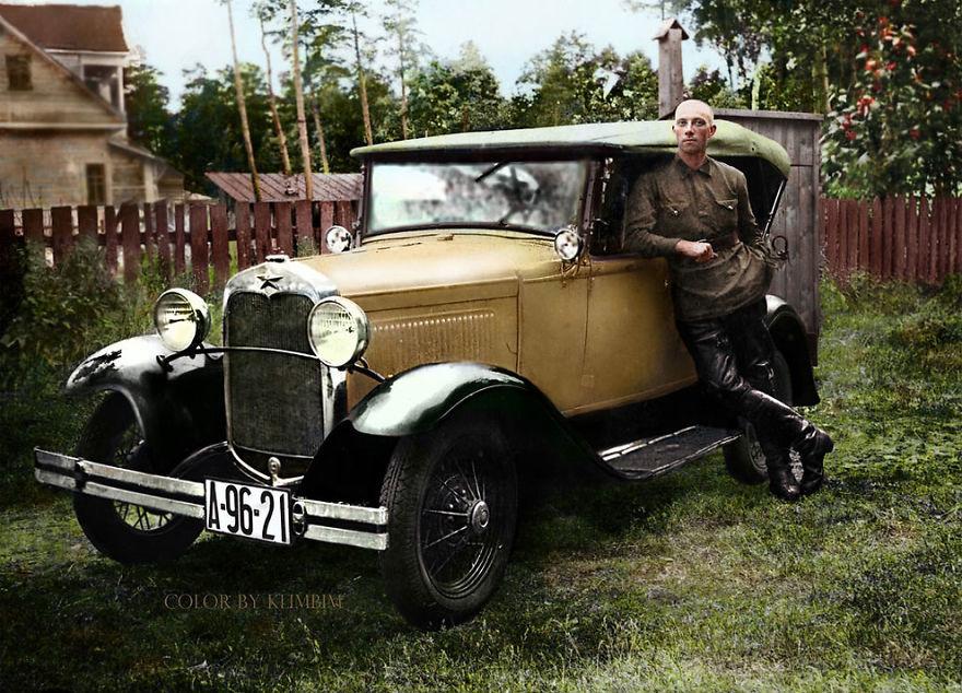 Форд советской сборки, 1930 год время, россия, фотография, цвет