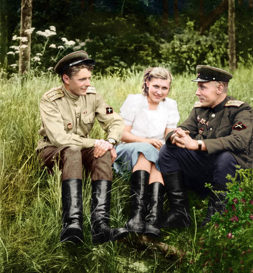 Противотанковая артиллерия, 1940-е время, россия, фотография, цвет