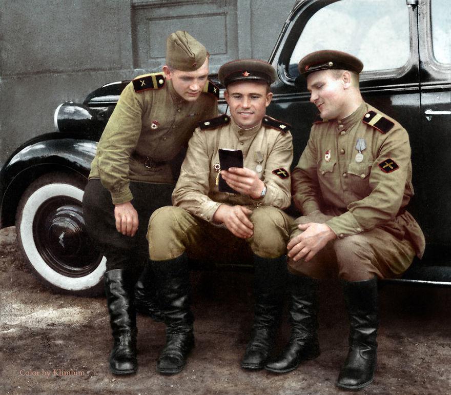 Противотанковая артиллерия, 1943 год время, россия, фотография, цвет