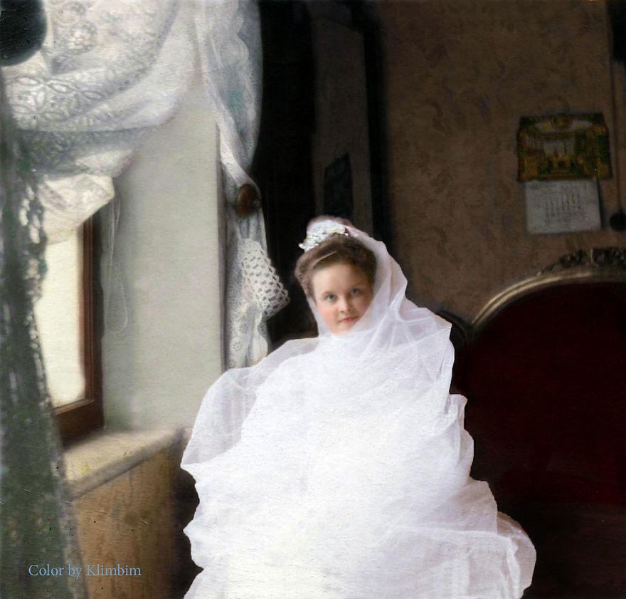 Невеста, 1903 год время, россия, фотография, цвет