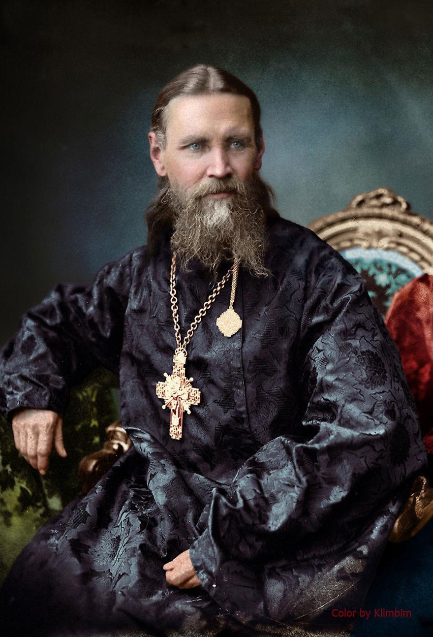 Святой праведный Иоанн Кронштадтский. время, россия, фотография, цвет
