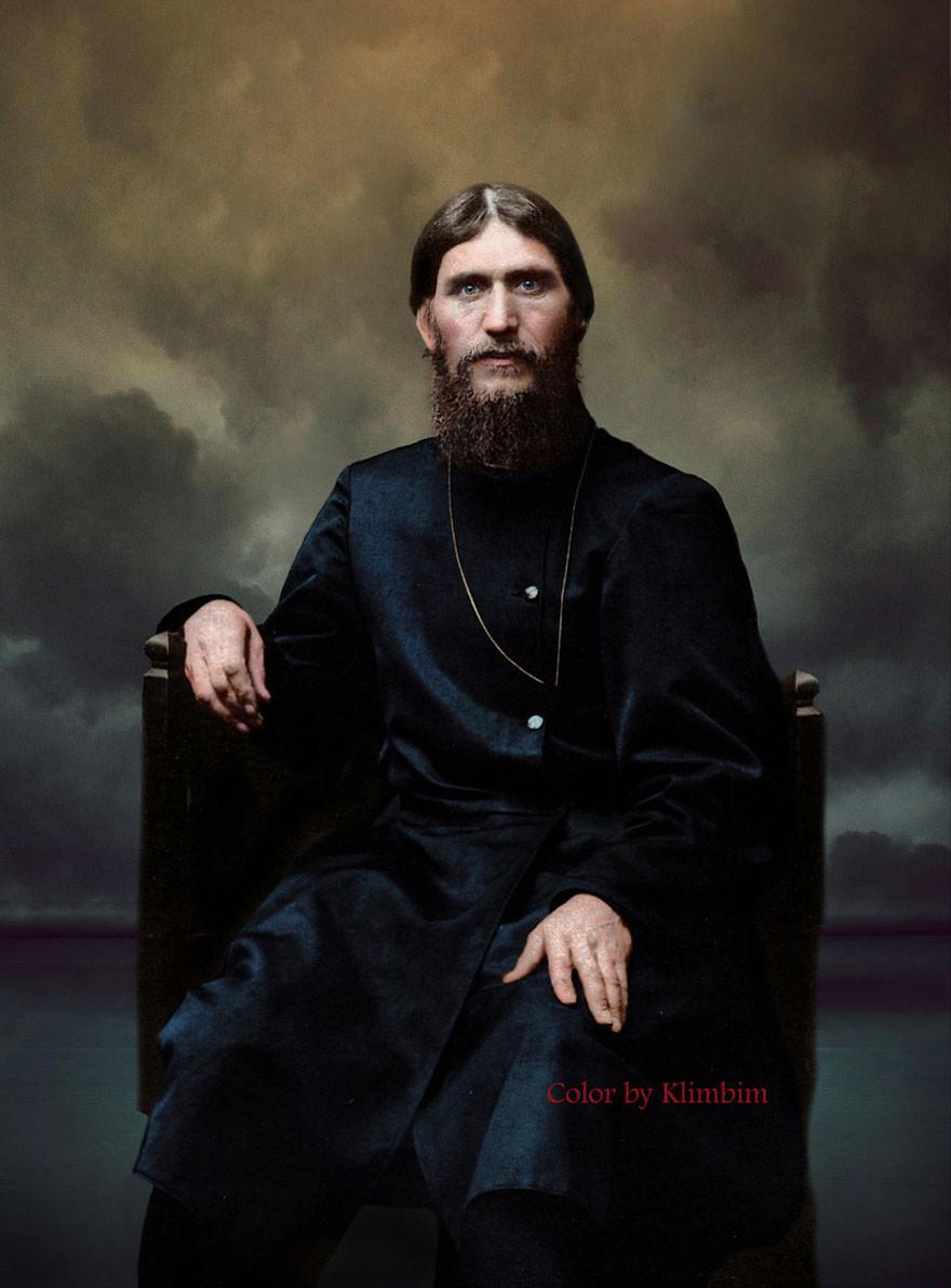Григорий Распутин, 1904 год время, россия, фотография, цвет