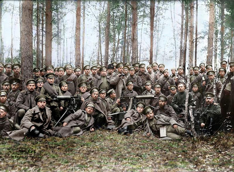 Российские солдаты, 1916 год