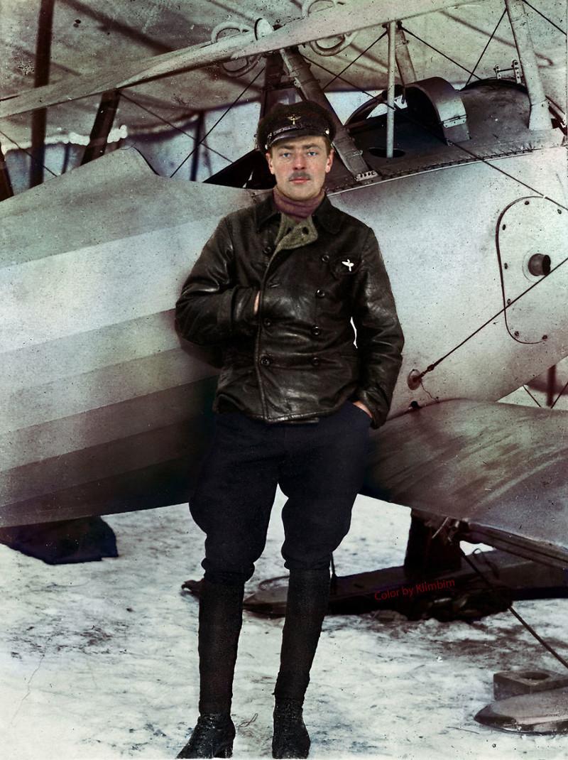 Российский пилот, Первая мировая война, 1918 год
