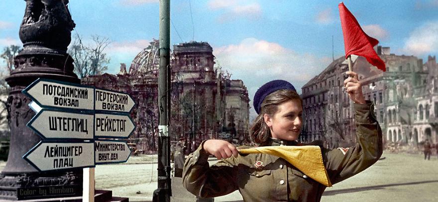 Берлин, 1945 год время, россия, фотография, цвет