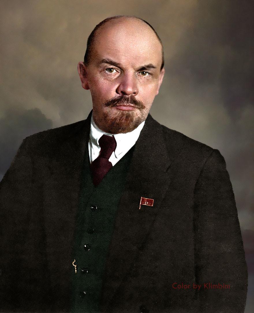 Ленин, фотография, цвет