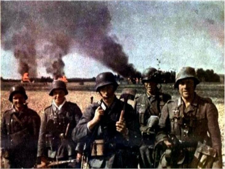 Немцы сжигают деревни