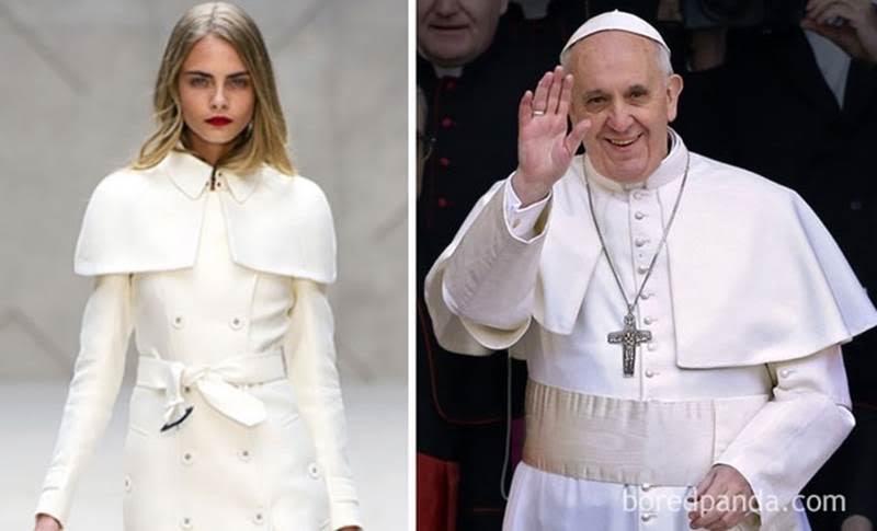 платье фотомодели и Папы Римского похожи