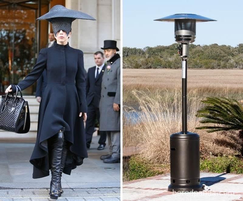 шляпа высокой моды и уличный фонарь