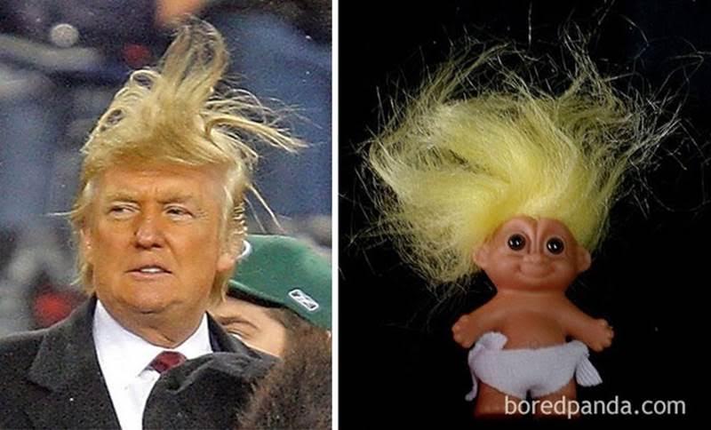 трамп и пупс