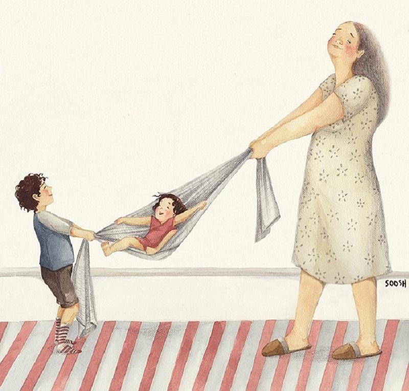 30 теплых иллюстраций о доме и семье