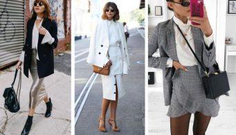 Самый модный дуэт зимы 2018: пиджак + юбка