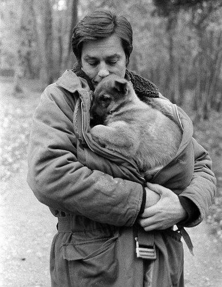 Ален Делон любит собак