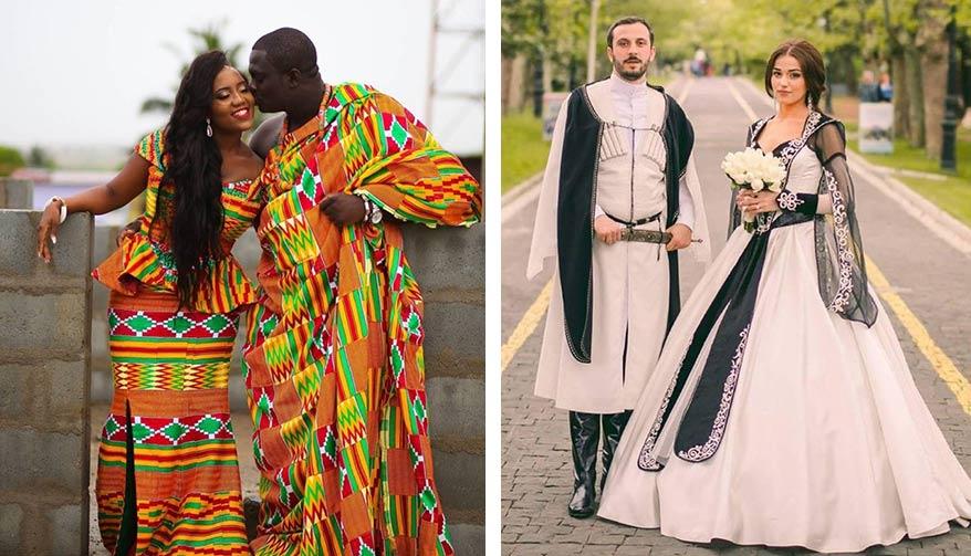 свадебные наряды народов мира