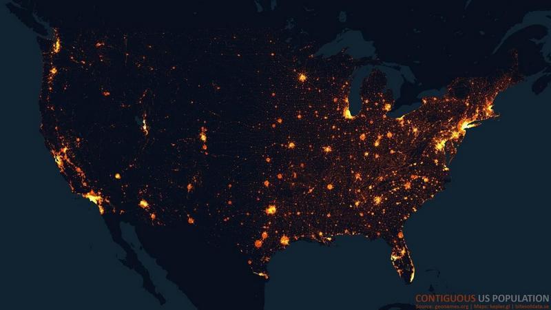 Карта плотности США