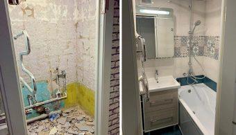 Переделка старенькой ванной комнаты своими руками