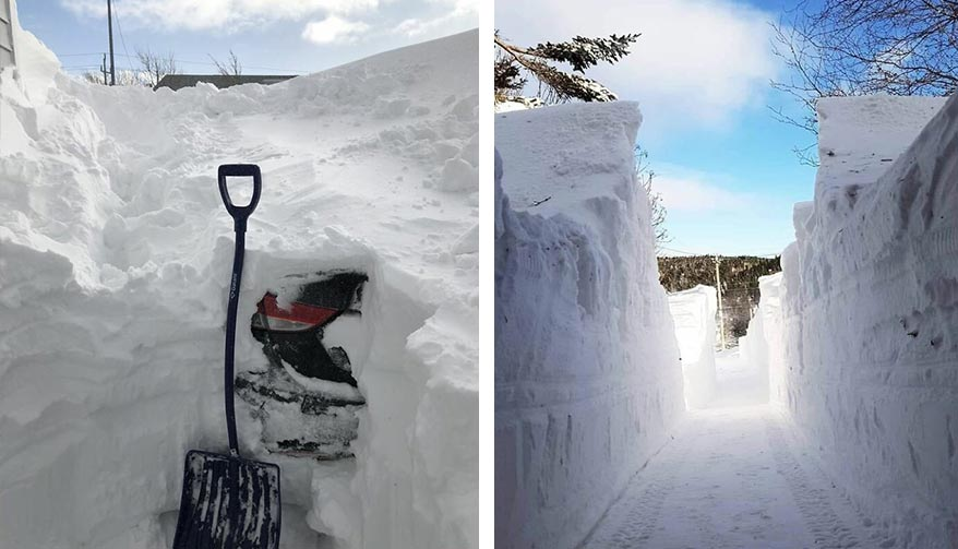 Снег в Канаде