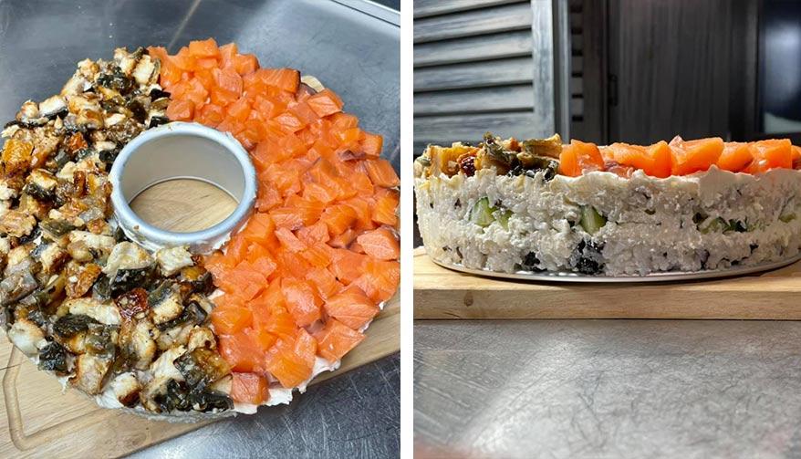 суши-торт рецепт