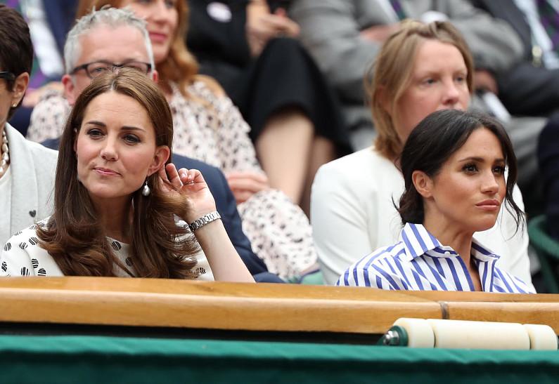 Герцогиня Кембриджская и Меган Маркл, июль 2018 г. Credit: Paul Marriott/Alamy Live News