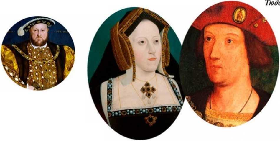 Генрих VIII,  Екатерина Арагонская и  Артур Тюдор
